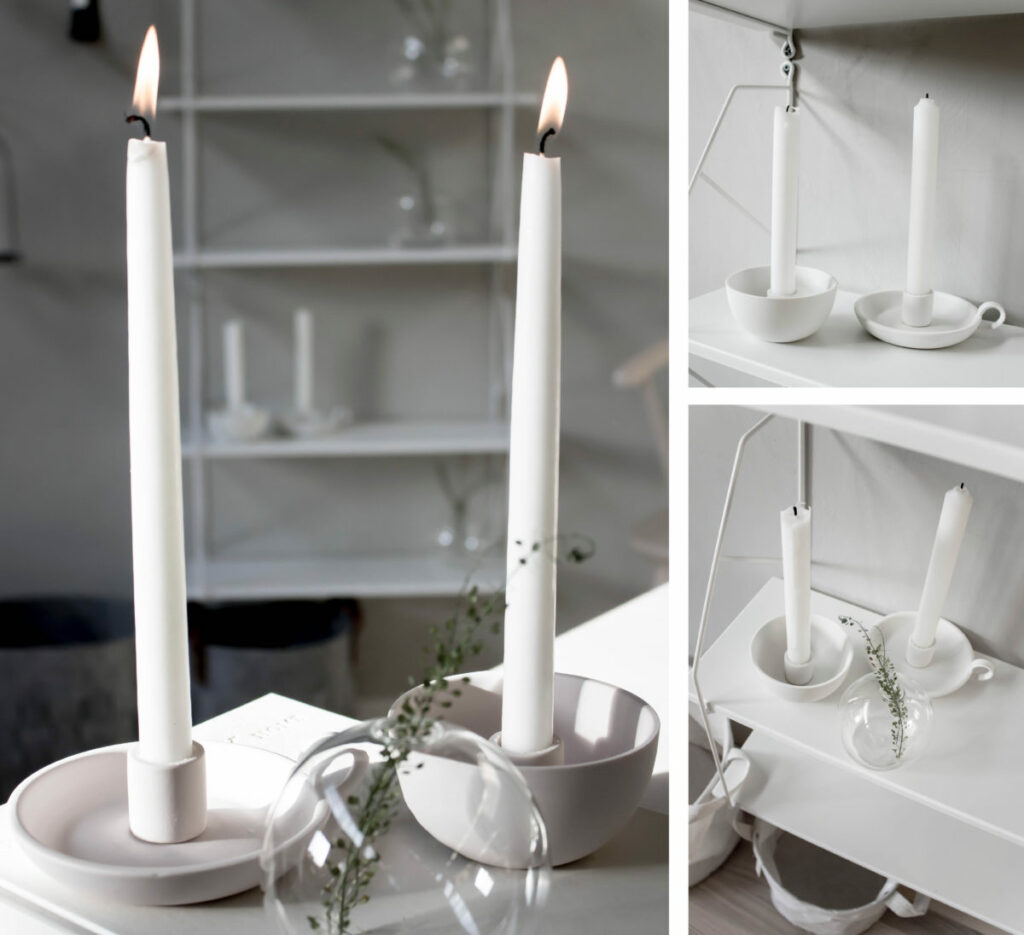 zweeds design kaarsen, borden en schalen
