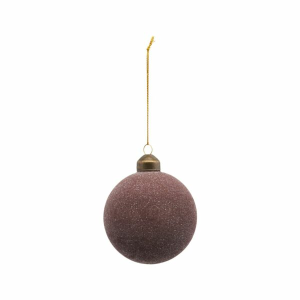 House Doctor kerstbal glittery plum villa madelief