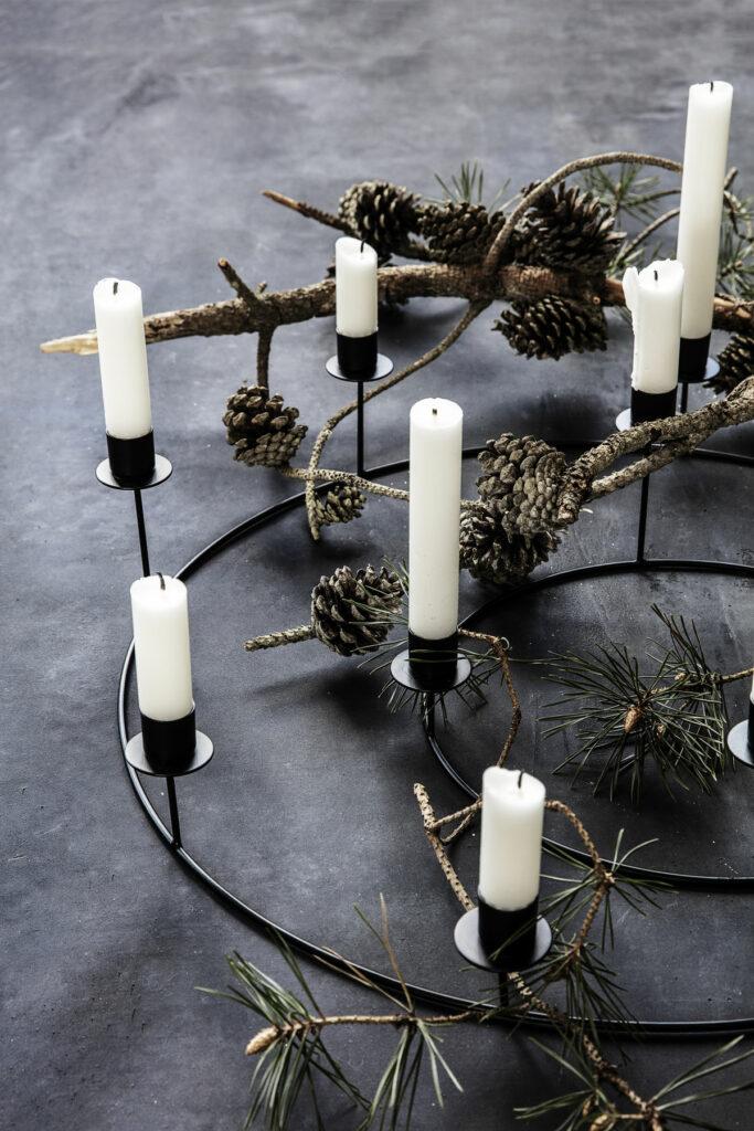 natuurlijke kerst dennenappel hout