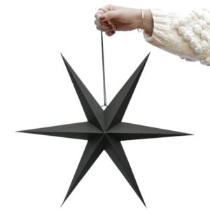 ster zwart zwarte kerstster villa madelief
