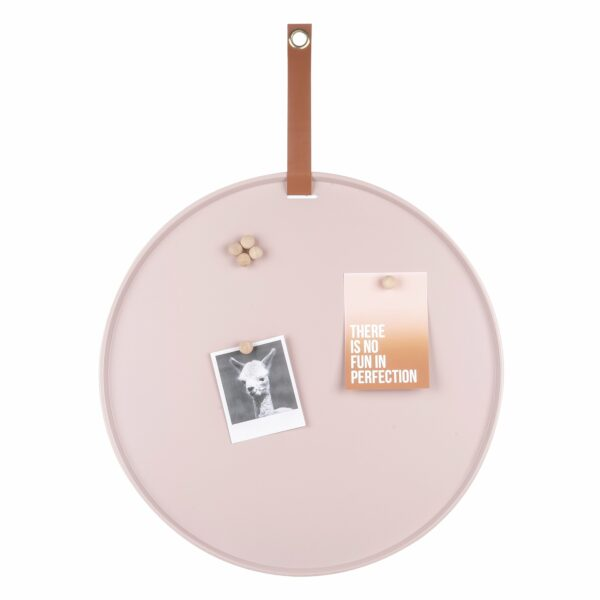 Rond magneetbord roze Present Time Villa Madelief