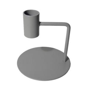 Kandelaar cool grey curve 10cm