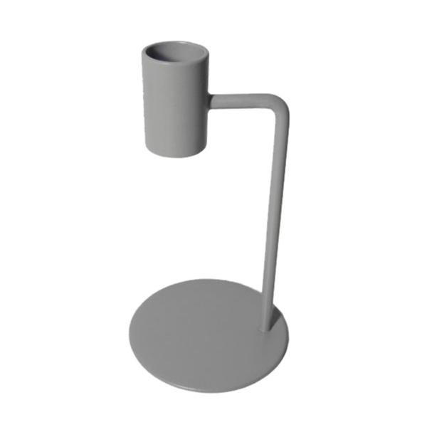 Kaarsenstandaard cool grey curve 15cm