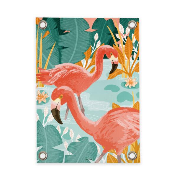 Tuinposter Flamingo Villa Madelief