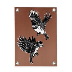 Tuinposter vogels bruin Villa Madelief