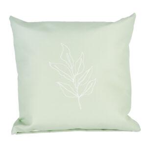 Buitenkussen groen met blad
