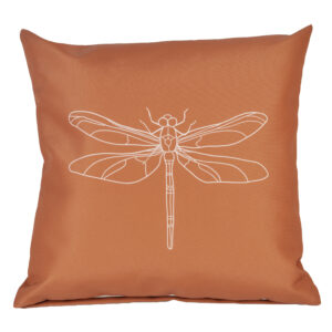 Buitenkussen roestbruin libelle