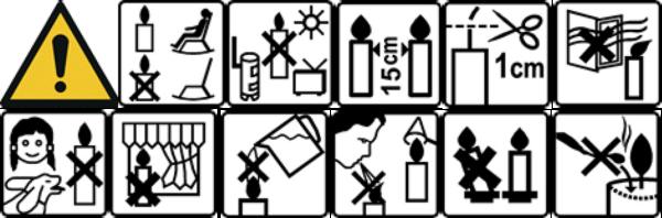 Veiligheidsinstructie kaarsen Brandedby