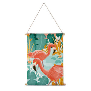 Interieurbanner flamingo