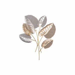 Wanddecoratie Alocasia Bladeren metaal met. mesh