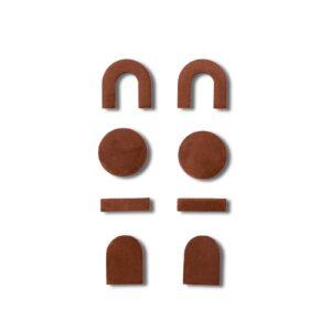 House Raccoon freddie magneet maroon brown
