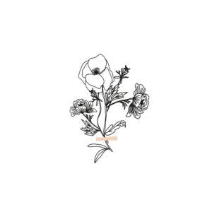 Huis van Mijn kaart bloemen boeket
