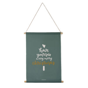 Interieurbanner Have yourself a very merry Christmas groen Villa Madelief