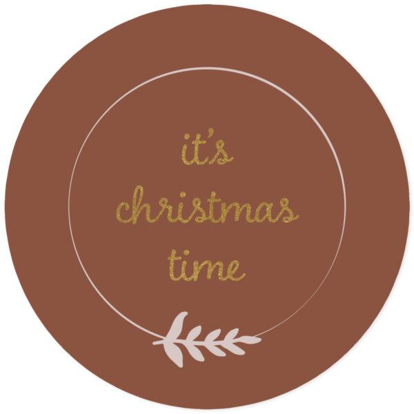Muursticker it's christmas time