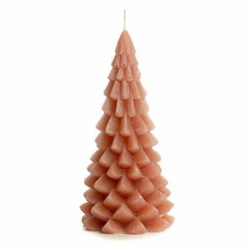 Rustik Lys kaars kerstboom brique