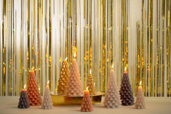 Rustik Lys kerstboom kaars