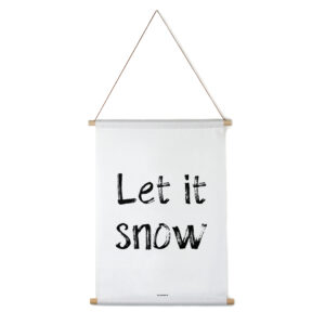 Interieurbanner let it snow zwart/wit Villa Madelief