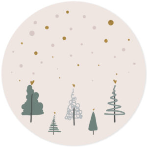 Muursticker kerstbomen groen