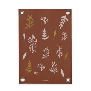 Tuinposter Leaves bruin Villa Madelief