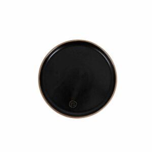 Zusss gebaksbordje aardewerk zwart