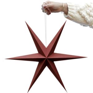 Kerst ster warm rood set van 2