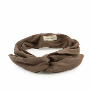 Haarband linnen cacao