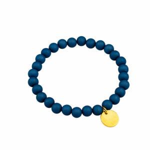 Donkerblauwe kralenarmband