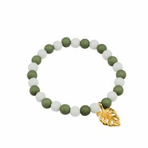 Villa Madelief kralenarmband groen wit