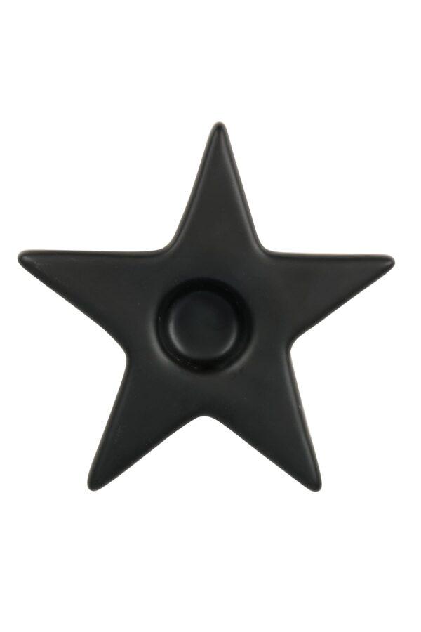 Zusss kandelaar ster zwart
