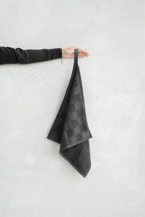 Zusss handdoek geblokt antracietgrijs
