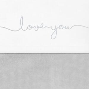 Laken love you grijs