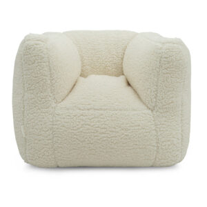 Kinderfauteuil wit teddy