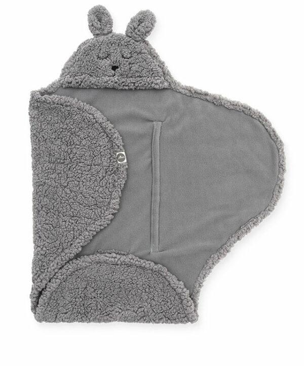 Wikkeldeken konijn grijs