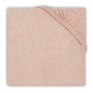 Hoeslaken roze slangenprint