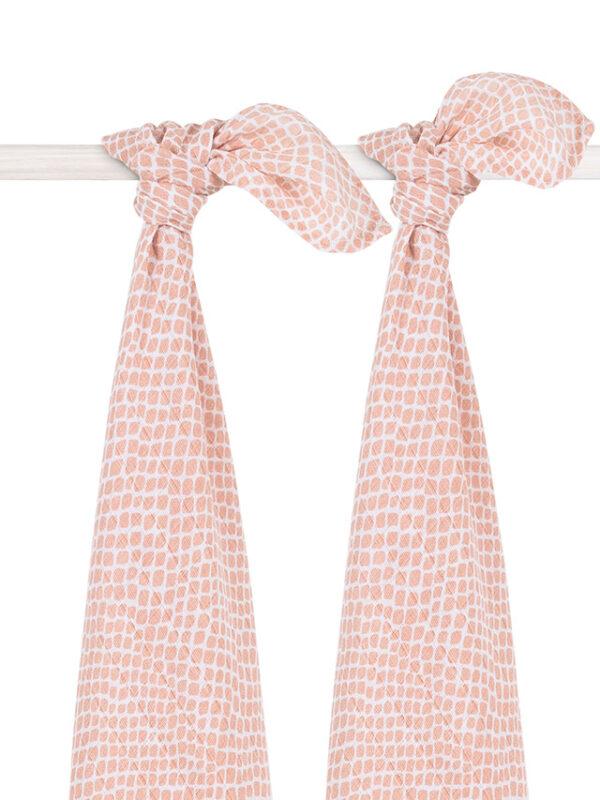 Hydrofiele doeken snake pale pink