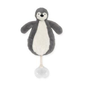 Speendoekje pinguïn grijs