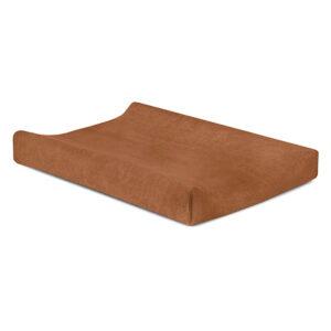 Aankleedkussenhoes badstof bruin