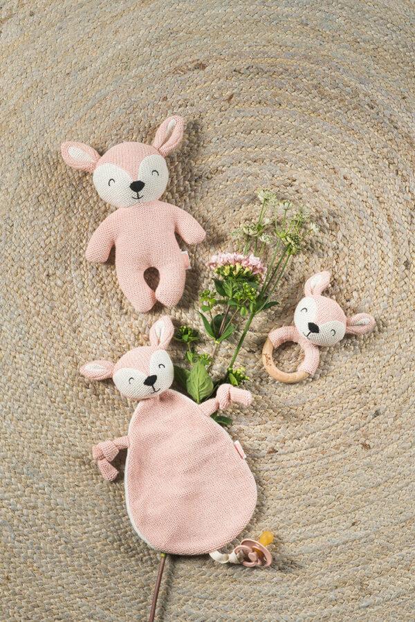 Speendoekje hertje roze