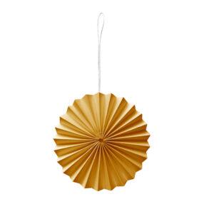 Decoratie hanger geel