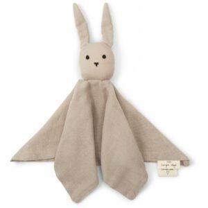 Knuffeldoek konijn dark clay