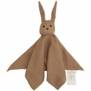 Knuffeldoek konijn bruin