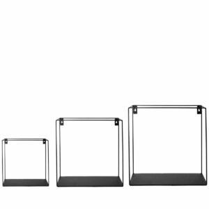 Storefactory metalen wandrek zwart