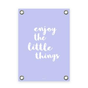Tuinposter paars wit enjoy
