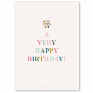 Villa Madelief ansichtkaart birthday
