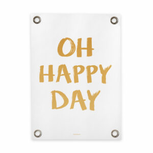 Tuin poster wit geel happy day