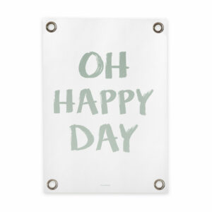 Tuin poster wit groen happy day