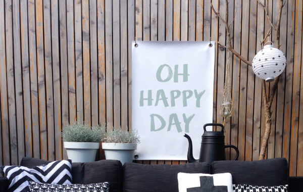 Tuinposter happy day