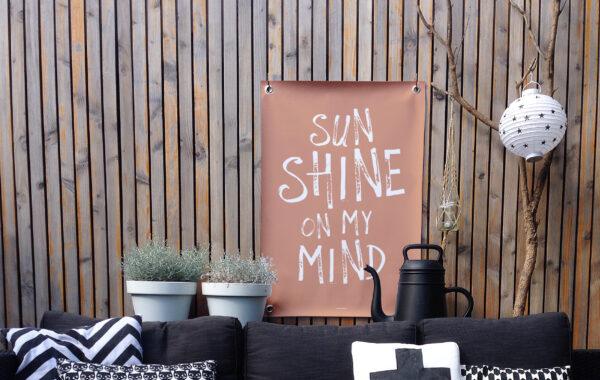 Tuinposter terra wit sunshine