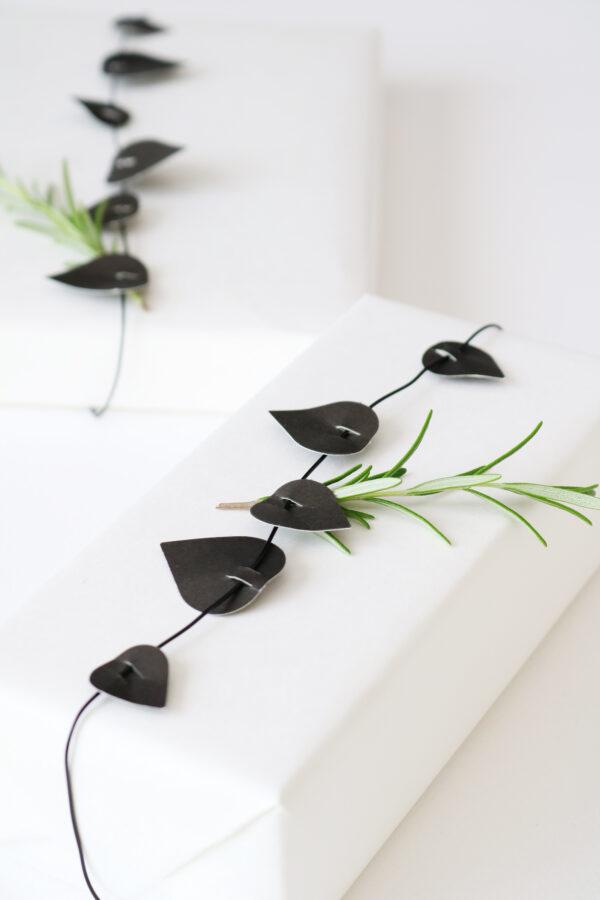 Twig leaves zwart