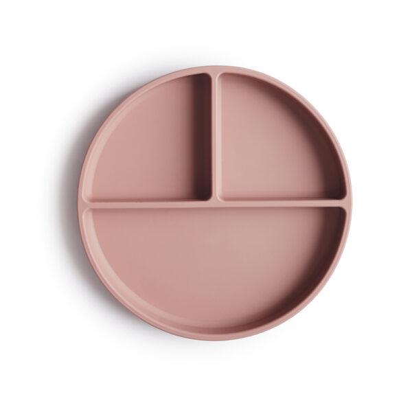Mushie siliconen bord blush